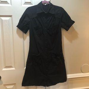 Anne Fontaine black shirt dress 38 / 4-6